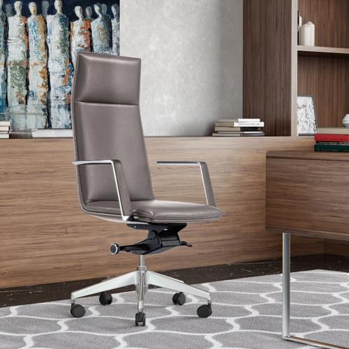 VIG Furniture - Modrest Gorsky- Modern Grey High Back Executive Office Chair