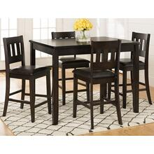 Dark Rustic Prairie 5 Pack - Table W/(4) Stools