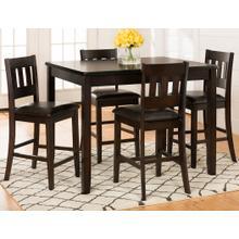 See Details - Dark Rustic Prairie 5 Pack - Table W/(4) Stools