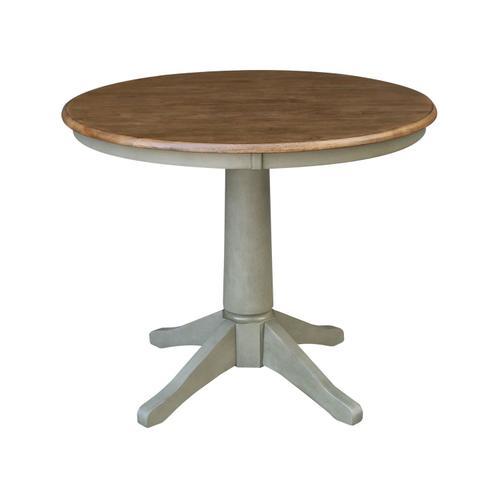 "John Thomas Furniture - 36"" Pedestal Table in Hickory / Stone"