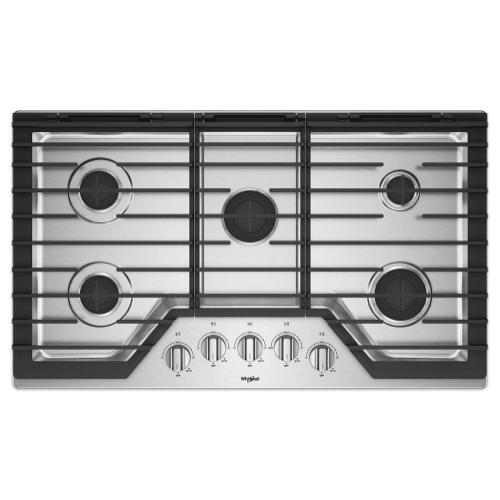 Product Image - 36-inch Gas Cooktop with EZ-2-Lift Hinged Cast-Iron Grates