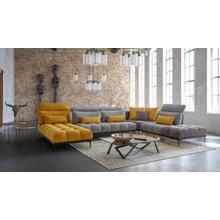 View Product - David Ferrari Display - Italian Modern Grey + Yellow Fabric Modular Sectional Sofa