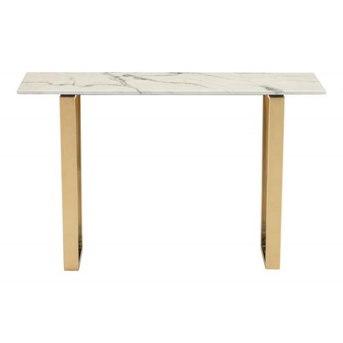 Zuo Modern - Atlas Console Table White & Gold