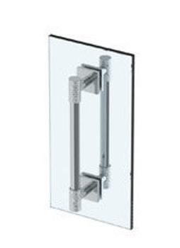 "Sense 18"" Double Shower Door Pull/ Glass Mount Towel Bar Product Image"