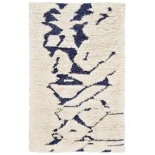 """View Product - Nomad Ivory Navy - Rectangle - 3'6"""" x 5'6"""""""