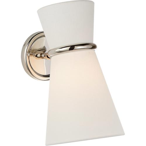 AERIN Clarkson 1 Light 7 inch Polished Nickel Single Pivoting Sconce Wall Light, Small