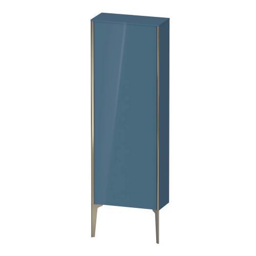 Duravit - Semi-tall Cabinet Floorstanding, Stone Blue High Gloss (lacquer)