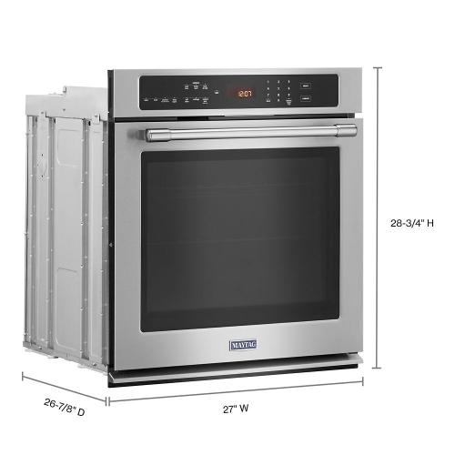 Maytag - 27-Inch Wide Single Wall Oven With True Convection - 4.3 Cu. Ft.