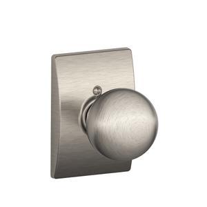 Orbit Knob with Century trim Non-turning Lock - Satin Nickel Product Image