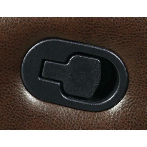 Myleene Chestnut Leather Reclining Loveseat