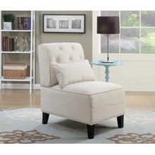 See Details - Everton Tufted Accent Chair, Beige