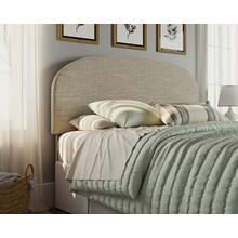 Upholstered Queen Headboard in Oatmeal