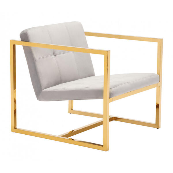 Alt Arm Chair Gray & Gold