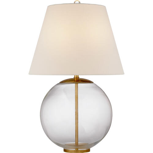 AERIN Morton 25 inch 100 watt Clear Glass Table Lamp Portable Light