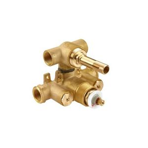 """Dual-control 3/4"""" Thermostatic Valve Rough with Volume Control and Diverter"""