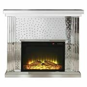 ACME Nysa Fireplace - 90204 - Mirrored & Faux Crystals Product Image