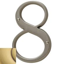 Satin Brass and Brown House Number - 8