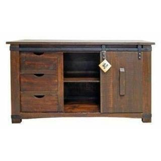 """See Details - 60"""" Barn Door Buffet/ TV"""