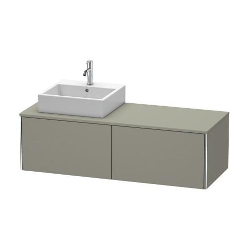 Product Image - Vanity Unit For Console Wall-mounted, Stone Gray Satin Matte (lacquer)