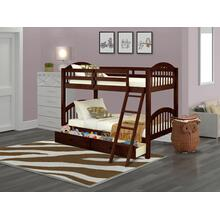West Furniture Verona Twin Bunk Bed in Java Finish with Under Drawer