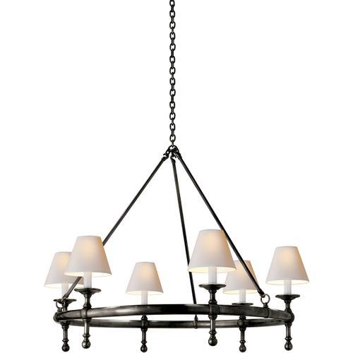 E. F. Chapman Classic 6 Light 33 inch Bronze Chandelier Ceiling Light