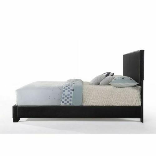 ACME Ireland III Eastern King Bed (Panel) - 14337EK - Black PU