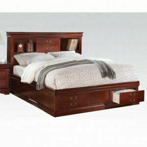 ACME Louis Philippe III Queen Bed w/Storage - 24380Q_KIT - Cherry