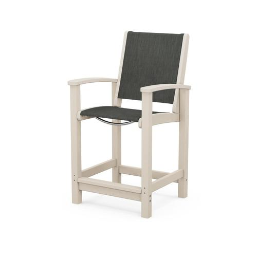 Coastal Counter Chair in Sand / Ember Sling