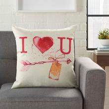"Home for the Holiday L9013 Multicolor 18"" X 18"" Throw Pillow"