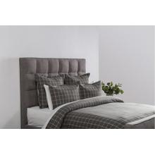 Hudson Plaid Gray Queen Duvet 92x90