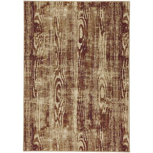 Woodgrain Gold Machine Woven Rugs
