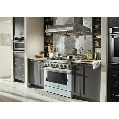 KitchenAid - KitchenAid® 36'' Smart Commercial-Style Dual Fuel Range with 6 Burners - Misty Blue