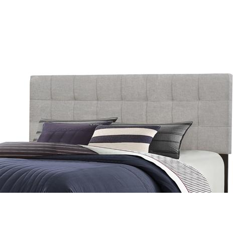 Delaney King Upholstered Headboard With Frame, Glacier Gray