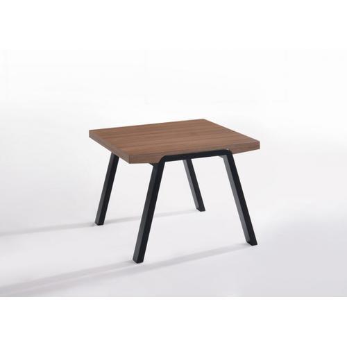 VIG Furniture - Modrest Rhett Modern Walnut & Black End Table