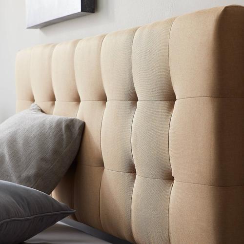 Malouf - Gale Upholstered Headboard - Twin Blue Gray
