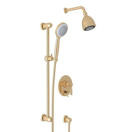 English Gold Holborn Pressure Balance Shower Package with Holborn Metal Lever