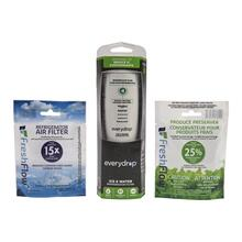 See Details - Everydrop® Refrigerator Water Filter 4 - EDR4RXD1 (Pack Of 1) + Refrigerator FreshFlow™ Air Filter + FreshFlow Produce Preserver Refill