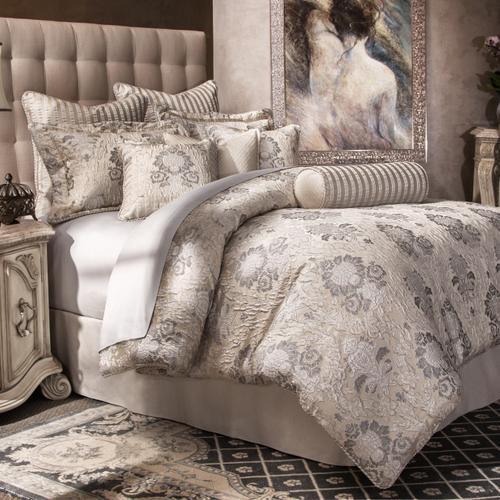 9pc Queen Comforter Set Silver