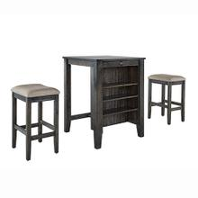3 Pack - Table \u0026 2 Stools - Weathered Pepper Finish