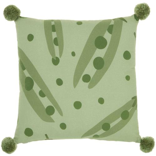 "Plush Cr933 Multicolor 16"" X 16"" Throw Pillow"