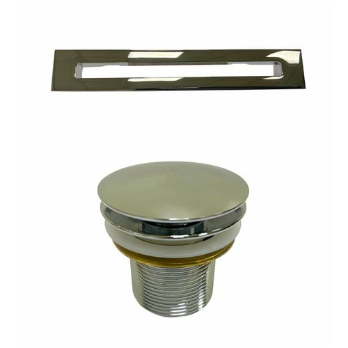 """Patrick 67"""" Acrylic Tub with Integrated Drain and Overflow - Brushed Nickel Drain and Overflow"""