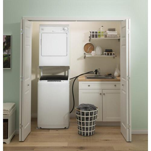 GE Appliances - GE® Space-Saving 2.8 cu. ft. Capacity Portable Washer with Stainless Steel Basket