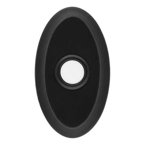 Satin Black BR7016 Oval Bell Button