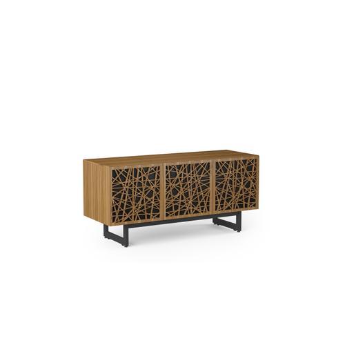 BDI Furniture - Elements 8777 Media Media Cabinet in Ricochet Doors Natural Walnut