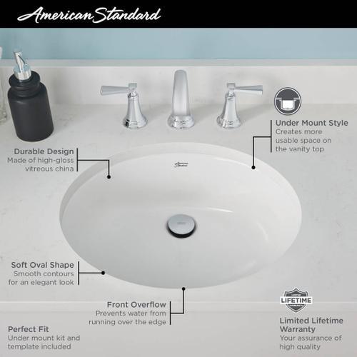 American Standard - Reliant Oval Undercounter Bathroom Sink  American Standard - White
