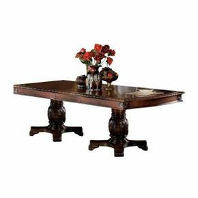 ACME Chateau De Ville Dining Table w/Double Pedestal - 04075 - Cherry