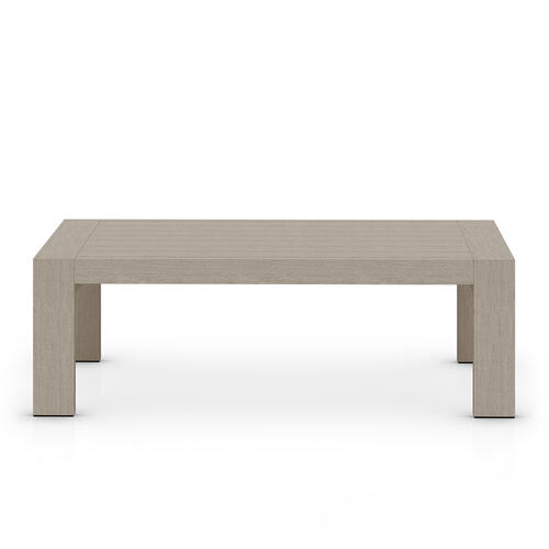 Weathered Grey Finish Caro Outdoor Coffee Table