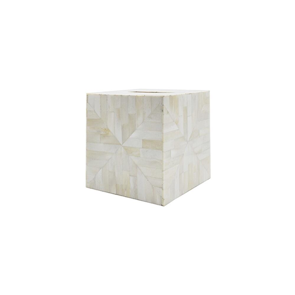 Finish Any Space With Impeccable Style, Down To the Last Detail. Our Beth Tissue Box Cover Coordinates Perfectly With Our Simon Tray, and the Natural Bone Finish Blends Flawlessly With Every Design Style.