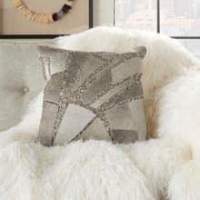 """Natural Leather Hide Pn927 Grey Silver 18"""" X 18"""" Throw Pillow"""