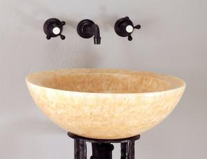 Polished Beveled Rim Sink Honey Onyx Product Image